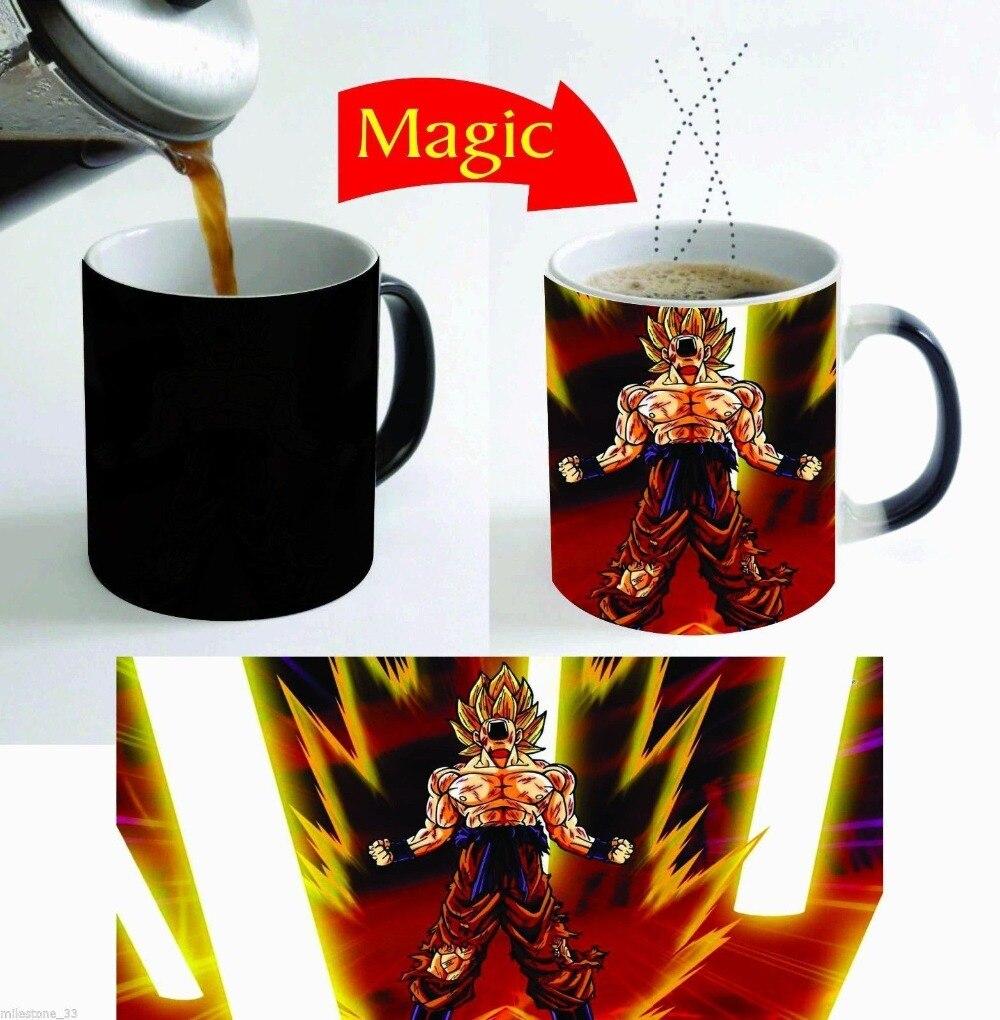 goku mugs dragon ball z mug heat sensitive mug coffee transforming heat reveal ceramic porcelain tea cups