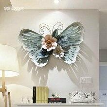Европейские украшения для стен ресторана стерео кованого железа в форме бабочки, настенные Стикеры для креативного дома, настенные подвесные поделки mx6031445