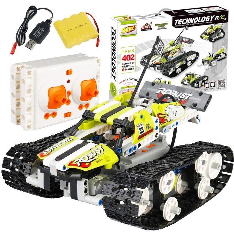 402PCS technic series Building RC Car Model 1:16 Remote Control Toys Vehicle Blocks Brick RC Car Deformation Truck For Kids Gift