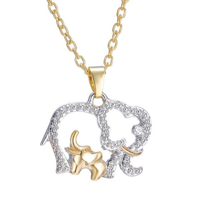 Yimyik new fashion style double elephant necklaces mama baby yimyik new fashion style double elephant necklaces mama baby pendants for women jewelry mom gifts aloadofball Choice Image
