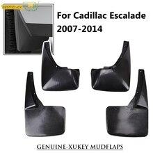 OE Styled Set Molded Mud Flaps For Cadillac Escalade 2007   2014 GMT900 Splash Guards Mudguards 2008 2009 2010 2011 2012 2013