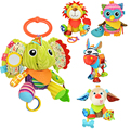 Baby Toy Animal Baby Bell Hand Grasp Educational Toys Infant Rattle Bell Mobility On The Crib Bed Hanging Toy Plush Teether Doll