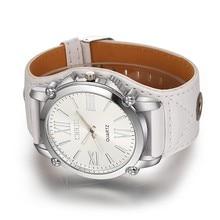 High Quality Brand PU Leather Watch Women Ladies Fashion Dress Quartz Wristwatch Roman Numerals Watches Christmas gift