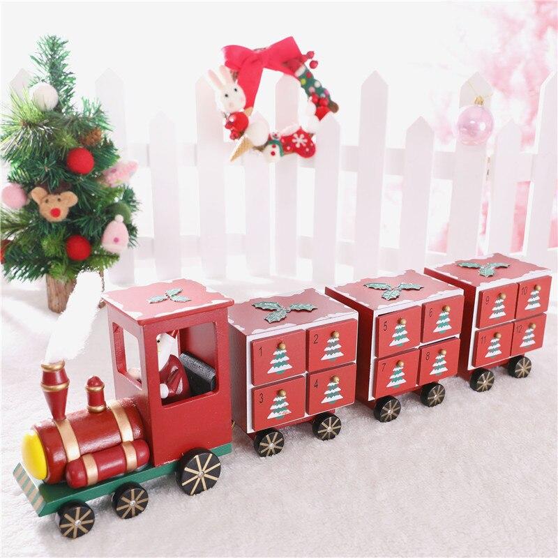 Рождественская елка с ящиком, Рождественское украшение, креативная Деревянная Рождественская елка, хранение конфет для X'mas календаря, подс... - 6