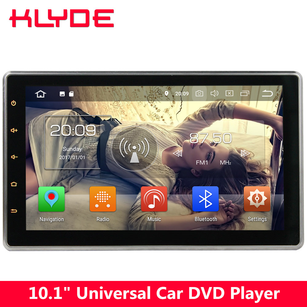 цена на KLYDE 10.1 IPS 4G Octa Core Android 8.0 4GB+32GB 2DIN Universal Car DVD Player For Nissan Tiida 350Z X-trail Sunny Navara NV200