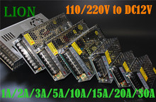 DC12V 1.25A 2A 3A 5A  10A 15A 20A 30A Switch Power Supply Adapter Transformer AC110V-240V to DC12V Adapter For LED Strips Light