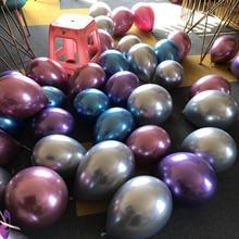 50pcs/lot  New  10inch Thicken Chrome color Balloon Round Latex Balloon Christmas  Suppliese Venue layout  Holiday Decoration кейн б охота на орлов