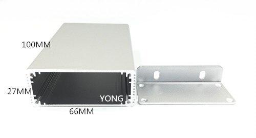 Caixa de Alumínio Caixa de Distribuição Instrumento de Alumínio Amplificador de 66*27*100mm de Alumínio Case Eletrônica Caixa 10 Pcs