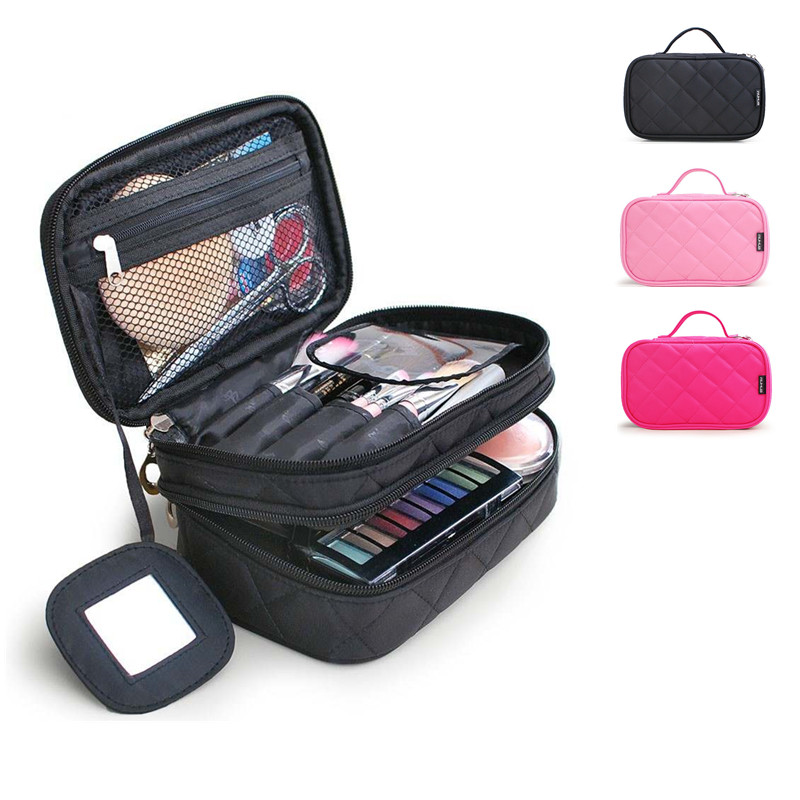 цена Cosmetic bag Zipper makeup bag Hanging Wash Toiletry Make up Bag toiletries Organizer Necessary make-up bag for portable trave в интернет-магазинах