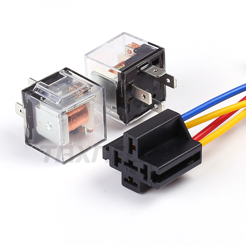5Pcs Waterproof Integrated DC 12V 40A 5Pin Car Relay /& Socket Holder 16AWG Wires