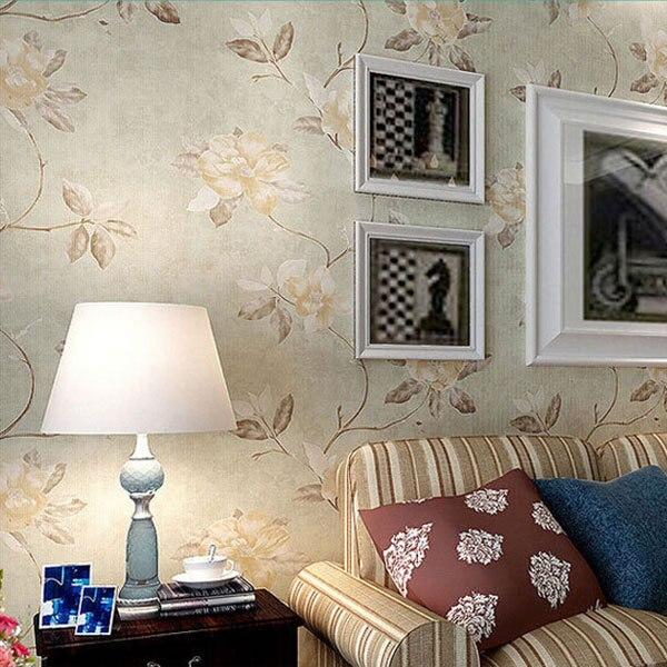 Aliexpress.com: Compre Fresh Country Romantic Wedding Room Decor Wallpaper  Vintage Elegant Floral Wall Paper Retro Mural Bedroom Wallpapers QZ0028 De  ... Part 84