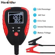 Cyfrowy tester akumulatora samochodowego 12V tester obciążenia akumulatora i analizator żywotności akumulatora procentowy opór napięcia i wartość AH CCA