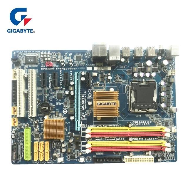Gigabyte Computador Desktop Motherboard LGA 775 DDR2 GA-EP43-S3L 100% Original Mainboard 16 gb EP43-DS3L UD3L Placas Utilizadas Para P43