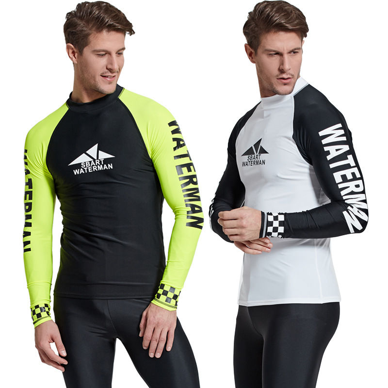 51614e15fd Detail Feedback Questions about Sbart 1PC Rash Guards T Shirts For Men Long Sleeve  Swimsuit Male Swimwear Sailing Surfing Swimming Tops Beach Bathing Suits ...