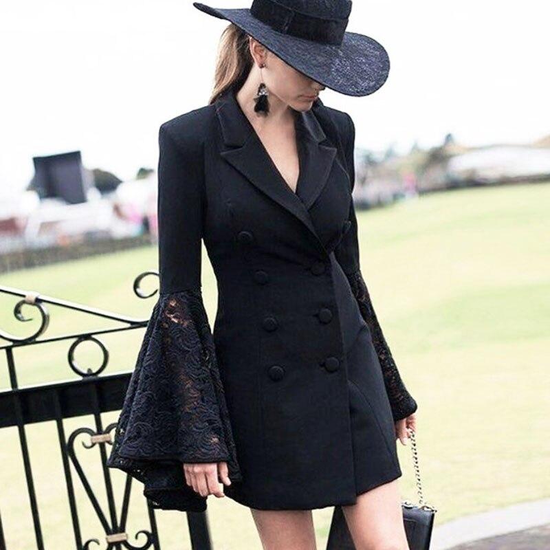 ผู้หญิงโกธิคเสื้อฤดูหนาวฤดูใบไม้ร่วงยาวแขนลูกไม้บาง Outerwear งานเย็บปะผ้าแฟชั่นเก๋เฒ่าสไตล์สตรีท Coats-ใน แจ็กเก็ตแบบเบสิก จาก เสื้อผ้าสตรี บน AliExpress - 11.11_สิบเอ็ด สิบเอ็ดวันคนโสด 1