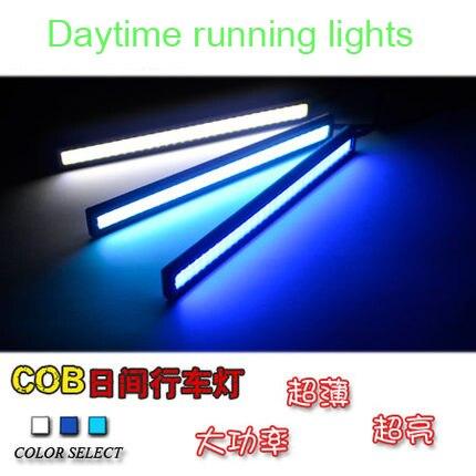 2Pcs/Set 2*10W Waterproof Auto Car DRL Led Daytime Running Lights White/Blue/ICE Bule DC12V Bar Car Light Source FreeShipping