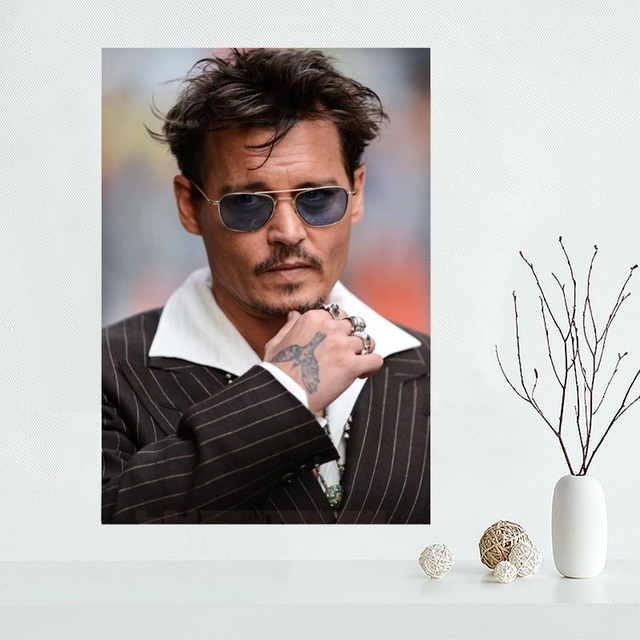 New Products Johnny Depp Wall Art Canvas  3