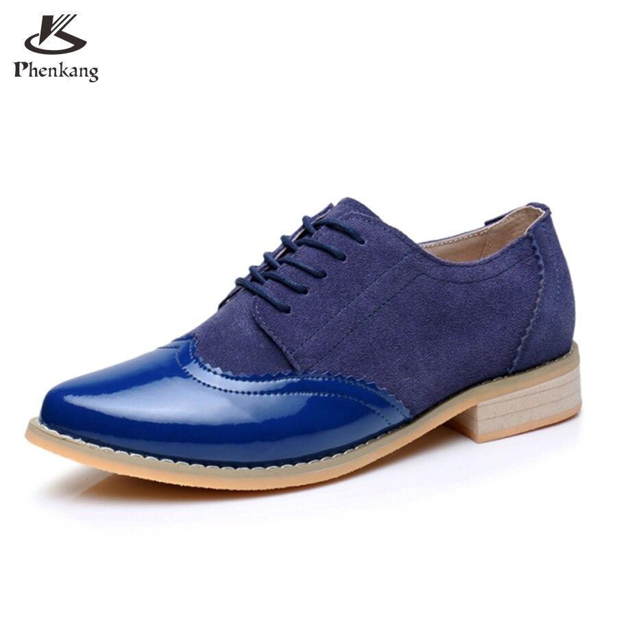 ФОТО Genuine leather big woman shoes US size 9.5 designer vintage High heels blue handmade pumps 2017 oxford shoes for women
