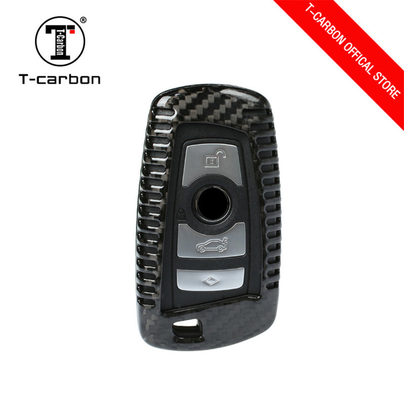 Car Styling Carbon Fiber Remote Key Cover Case Fit For BMW F05 F10 F20 F30 Z4