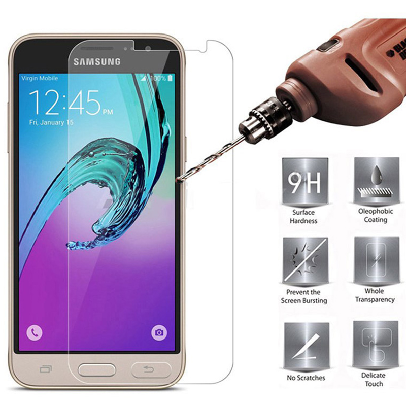 <font><b>9H</b></font> Tempered <font><b>Glass</b></font> Screen Protector For <font><b>Samsung</b></font> <font><b>Galaxy</b></font> J3 J5 J7 2017 S6 S5 S4 A5 <font><b>A3</b></font> <font><b>2016</b></font> X Cover 3 Grand Prime Transparent Film image