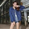 Джинсовая рубашка женские синий джинсовые рубашки для женщин дамы зима джинсовая одежда женщины джинсовые рубашки женщины 2016 сексуальная пальто AA1349
