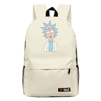 High Q Cartoon Rick And Morty 2016New Arrival Backpack Students Couple Printing Candy Color Leisure Bags