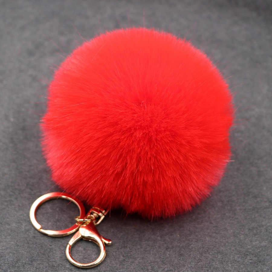 17 cores Bugiganga Keychain Chaveiros Chaveiro De Pele Pompons Fofo Pom Pom Keychain Chaveiro para Carros Chaveiros Bugigangas