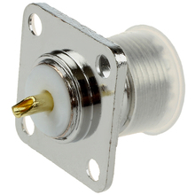 цена на UHF Female SO239 Panel Chassis Mount Flange Deck Mount Solder Cup RF Connector