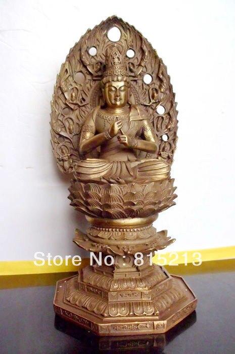Wang 00071 VAIROCANA bouddhiste en bronze, statue de bouddha der Mitte