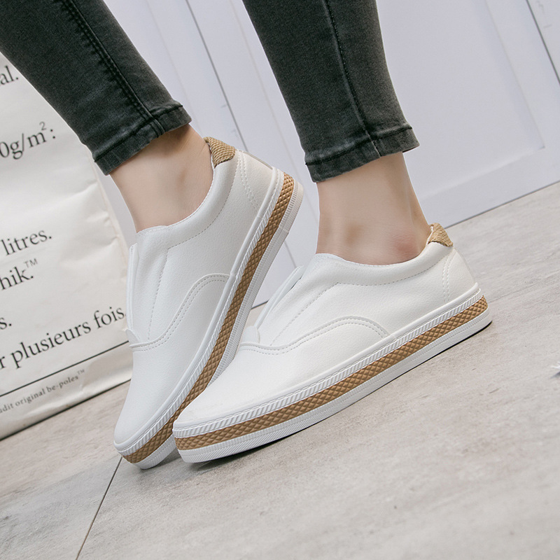 Spring Autumn Platform Sneakers Women Shoes 2018 Slip on Canvas Espadrilles Casual White Shoes Woman Loafers Flat Heel стоимость