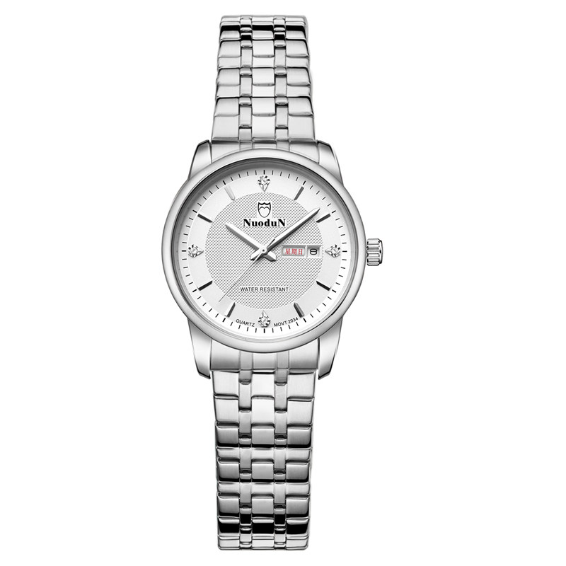 Nuodun Fashion Watch Sets Women Dress Watches Geneva Stainless Steel Watch Casual Wrist Quartz Watch Horloges