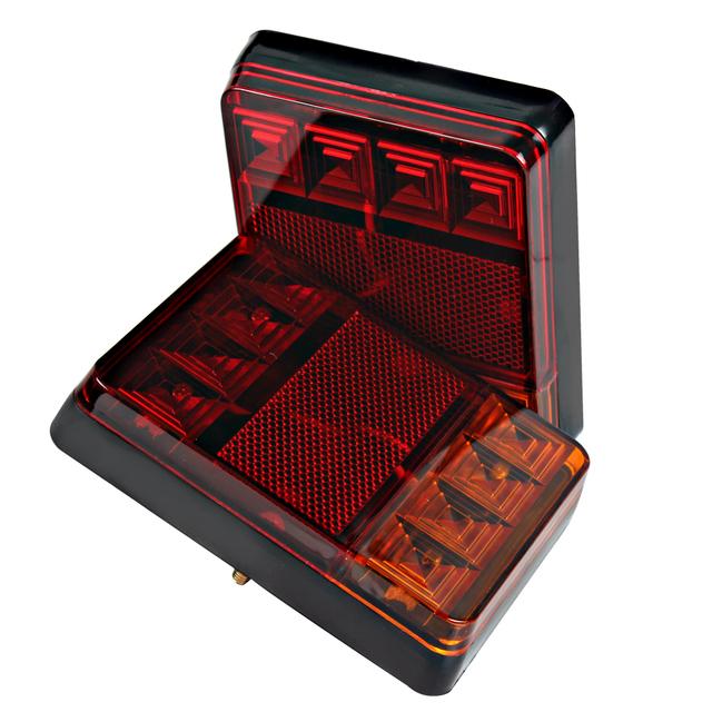 2 pcs 8 LED Car Truck Lâmpadas Luzes de Advertência Traseira Do Carro Styling traseiro para As Peças Do Reboque Do Caminhão Barco À Prova D' Água DC 12 V Cauda Do Carro luz