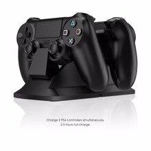 GameSir W60P190 Dual Controlador de Estação de Carregamento Suporte para PS4/PS4 Slim/PS4 Pro, Doca de carregamento com fonte de Alimentação, preto