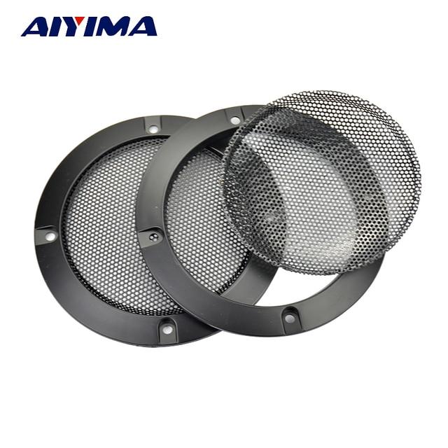Aiyima 2 piezas 4 pulgadas altavoz Metal círculo rejilla para altavoz redondo de 4 pulgadas