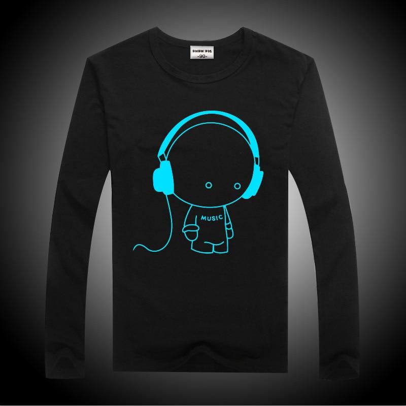 Luminous Long Sleeve T-Shirt For Boys T Shirt Batman Christmas Teen Girl Tops Size 10 11 12 14 years Teenage Toddler Boy Tshirts