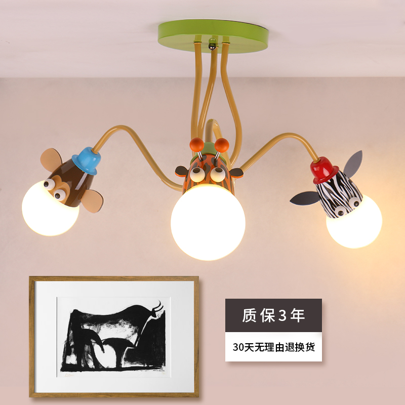 Креативные Мультяшные Животные Детская комната светодиодные потолочные светильники лампа с плафоном для дома гостиной потолочные светиль...