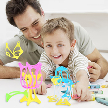 252pcs Assembled Building Blocks Toy Children Educational Colorful Soft Plastic Straw Fight Inserted Blocks Christmas Gift