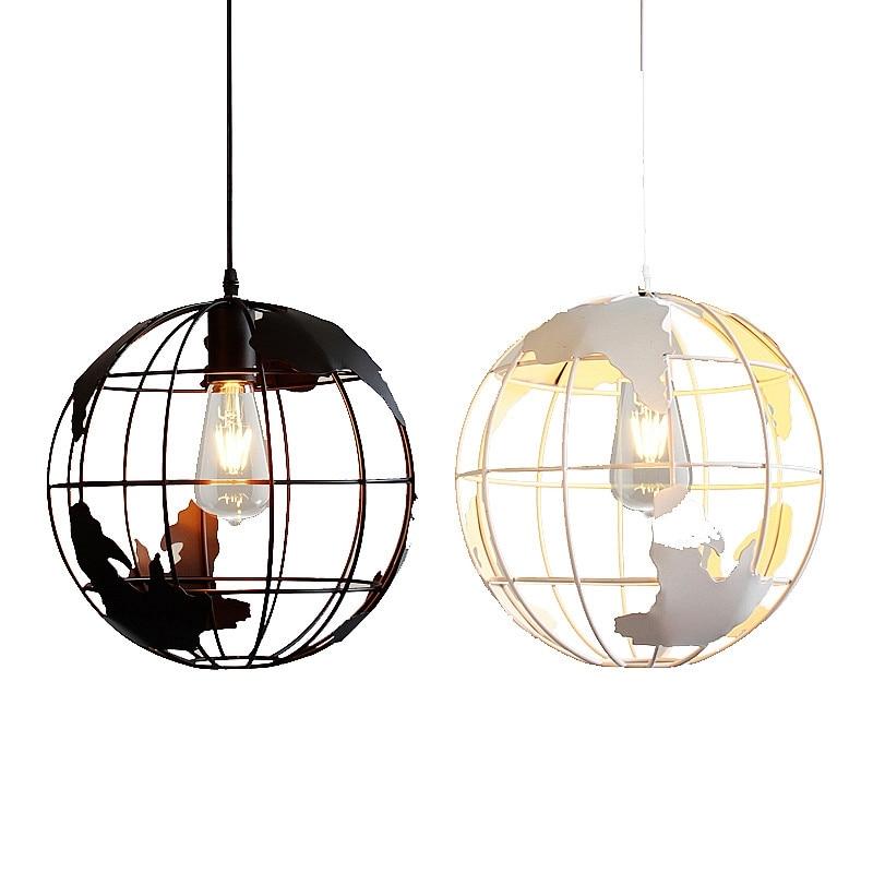 Retro Indoor Lighting Vintage Pendant Light Led Lights 24: GZMJ Vintage Repo Globe Pendant Lights Kitchen Hanging