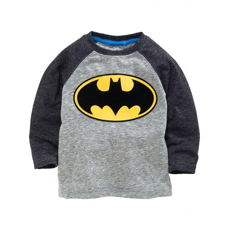 children cartoon brand boys t shirt baby boy spring fashion cotton long sleeve O-neck t shirt gray little boys long sleeve tops voile panel stripe long sleeve t shirt
