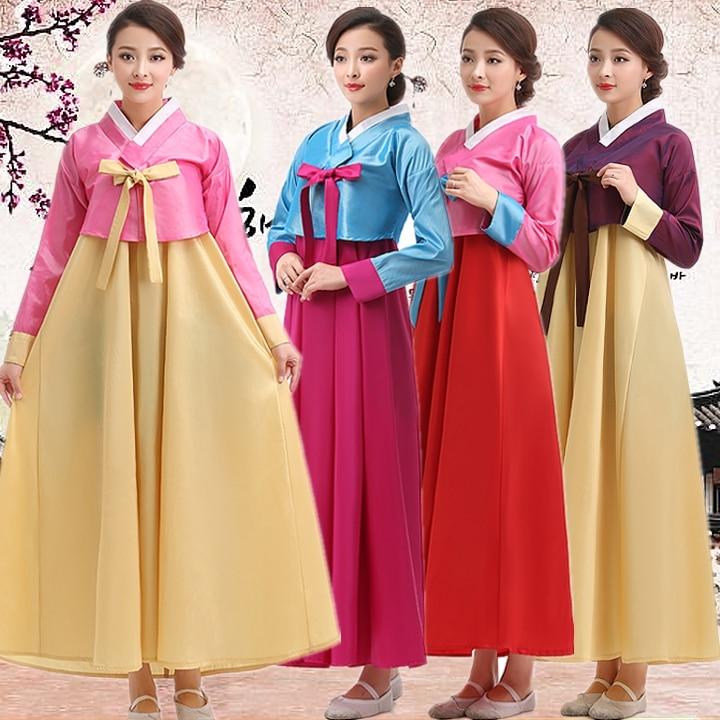 Korean Traditional Dress Traditional Korean Hanbok Women Palace Traditional Korean Women Hanbok Dae Jang Geum Dance Costume