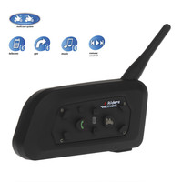 VNETPHONE 6 Riders Interphone Bluetooth Motorcycle Helmet Interphone Headset Intercom V678 1200M Wireless Intercomunicador BT