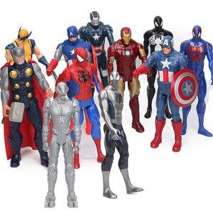 Marvel 30 см Мстители эндигра фигурка супергероя Тор Капитан Америка Росомаха Человек-паук Железный человек Коллекционная модель куклы игрушк...