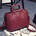 2016 New retro thread women bags fashion shoulder messenger bags solid color ladies handbags KLY8892bag
