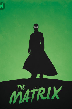 Movie Hero Collection The Matrix Minimalist Vintage Poster