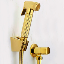 Torneira Туалет золото ручной подгузник медь биде Опрыскиватель Душ Shattaf спрей душ комплект Jet& Золотой угол клапан BD211-B