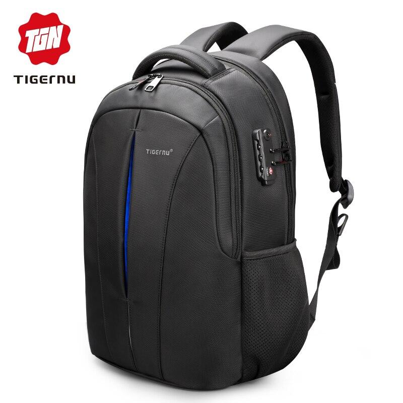 Tigernu impermeable de 15,6 pulgadas del ordenador portátil mochila NO clave de la TSA Anti robo hombres mochilas de adolescentes mochila bolso hombre mochila