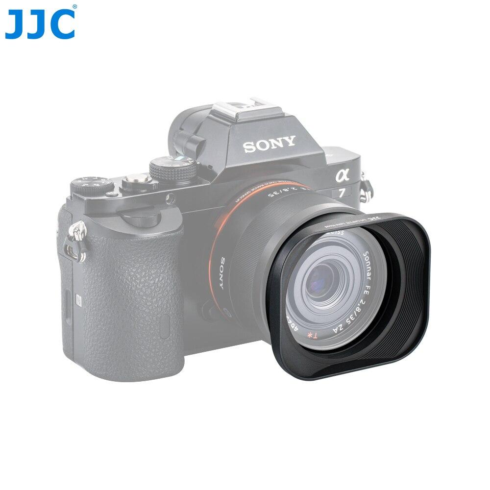 JJC Métal Carré Lens Hood 49mm pour Sony DSC-RX1 DSC-RX1R DSC-RX1R II Remplace SONY LHP-1