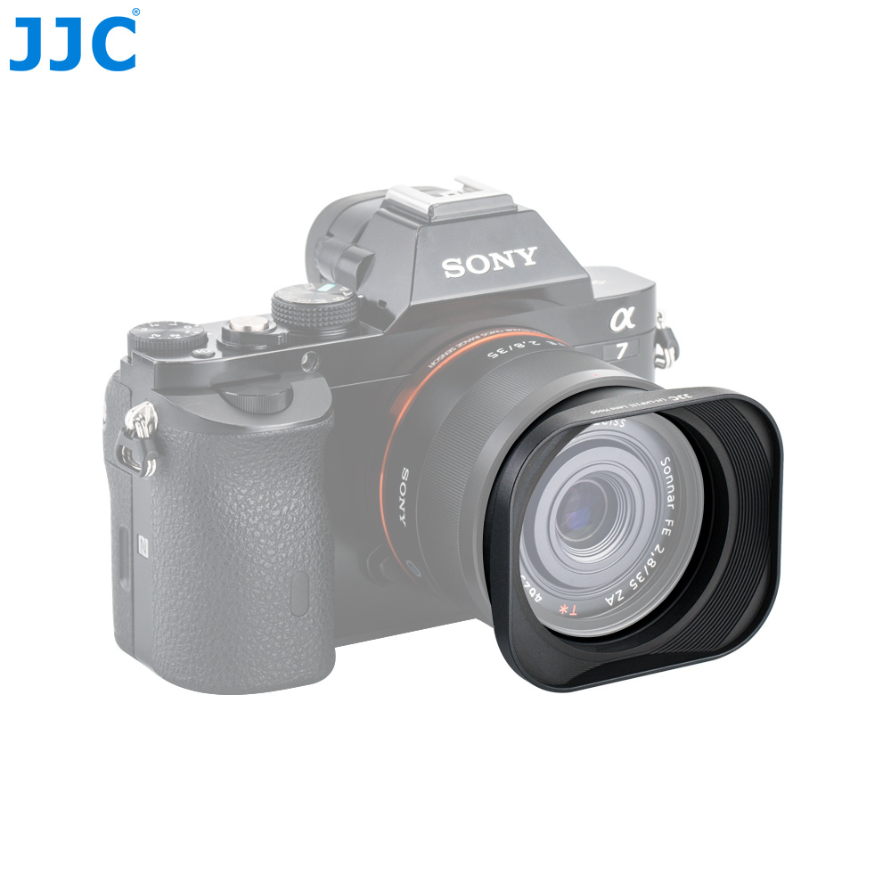 JJC Metal Square Lens Hood 49mm for Sony DSC-RX1 DSC-RX1R DSC-RX1R II Replaces SONY LHP-1 фотоаппарат sony cyber shot dsc rx10m2