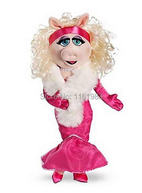 The Muppets Exclusive 50cm DELUXE Plush Figure Miss Piggy Plush Toys For Christmas(Mini Defect) цена