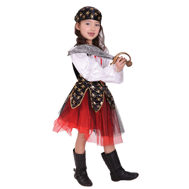 pirate costume for girls christmas halloween costume for kids children boys  child Carnival Party fancy dress child Cosplay c67dd0726db4